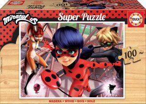 Los mejores puzzles de Miraculous Ladybug - Puzzle de Miraculous Ladybug de 100 piezas de Educa