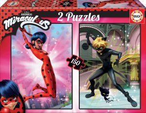 Los mejores puzzles de Miraculous Ladybug - Puzzle de Miraculous Ladybug de 2x150 piezas de Educa