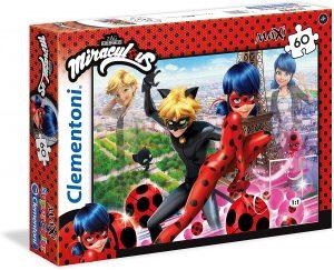 Los mejores puzzles de Miraculous Ladybug - Puzzle de personajes de Miraculous Ladybug de 60 piezas de Clementoni