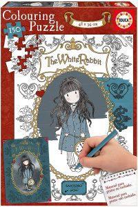Los mejores puzzles de Santoro - Puzzle de Serie Santoro White Rabbit para colorear de 150 piezas de Educa