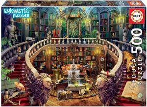 Los mejores puzzles de Serie Enigmatic de Educa - Puzzle de Biblioteca un enigma en cada rincón de la imagen de 500 piezas de Enigmatic de Educa
