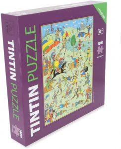 Los mejores puzzles de Tintín - Puzzle de 1000 piezas de batalla de Tintín de Moulisart
