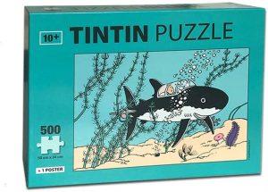 Los mejores puzzles de Tintín - Puzzle de 500 piezas de tiburón submarino de Tintín de Moulisart