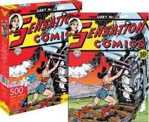 Los mejores puzzles de Wonder Woman - Puzzle de Wonder Woman clásico de 500 piezas de Action Comics de Aquarius