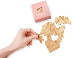 Los mejores puzzles de corazón - Puzzle con forma de corazón de 14 piezas de Luckies of London