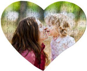 Los mejores puzzles de corazón - Puzzle de corazón personalizado de 104 piezas