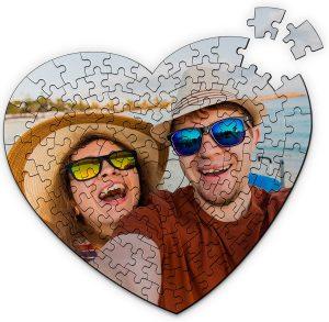 Los mejores puzzles de corazón - Puzzle de corazón personalizado de 111 piezas de Lolapix