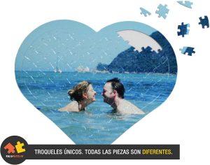 Los mejores puzzles de corazón - Puzzle de corazón personalizado de 97 piezas de Solopuzzles