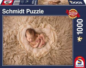 Los mejores puzzles de corazón - Puzzle de corazón y bebé de 1000 piezas de Schmidt