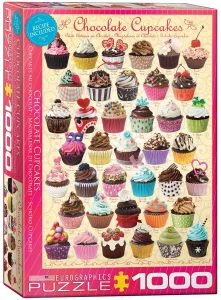 Los mejores puzzles de cupcakes - Puzzle de Chocolate Cupcakes de Eurographics de 1000 piezas