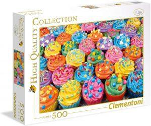 Los mejores puzzles de cupcakes - Puzzle de Cupcakes de Clementoni de 500 piezas