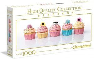 Los mejores puzzles de cupcakes - Puzzle de panorama de Cupcakes de Clementoni de 1000 piezas