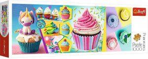 Los mejores puzzles de cupcakes - Puzzle de panorama de Cupcakes de Trefl de 1000 piezas