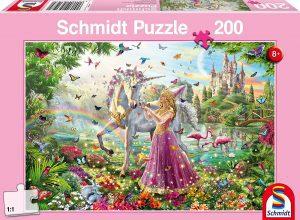 Los mejores puzzles de hadas - Puzzle de hada y unicornio de 200 piezas de Schmidt