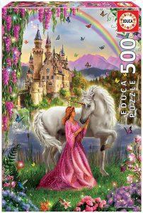 Los mejores puzzles de hadas - Puzzle de hada y unicornio de 500 piezas de Educa