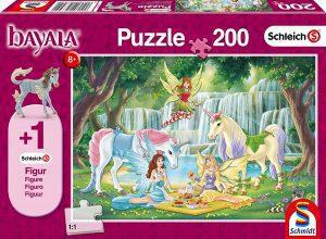 Los mejores puzzles de hadas - Puzzle de hadas y unicornios de 200 piezas de Schmidt