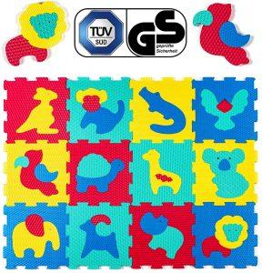 Los mejores puzzles de suelo para bebés - Puzzle de animales de alfombra pequeño - Puzzles infantiles de alfombra de suelo para bebés