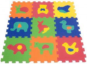 Los mejores puzzles de suelo para bebés - Puzzle de animales pequeño de alfombra de VeloVendo - Puzzles infantiles de alfombra de suelo para bebés