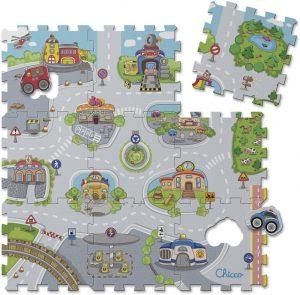 Los mejores puzzles de suelo para bebés - Puzzle de calles de alfombra de Chicco - Puzzles infantiles de alfombra de suelo para bebés