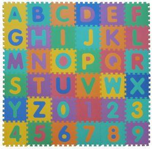Los mejores puzzles de suelo para bebés - Puzzle de letras y números de alfombra de VeloVendo - Puzzles infantiles de alfombra de suelo para bebés