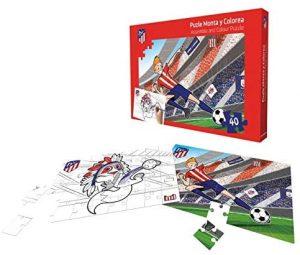 Los mejores puzzles del Atlético de Madrid - Puzzle para colorear del Atlético de Madrid de 40 piezas de KICK OFF GAMES