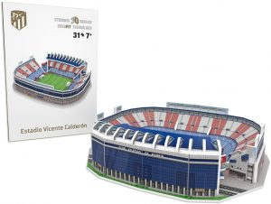 Los mejores puzzles del Atlético de Madrid del Vicente Calderón - Puzzle del Vicente Calderón en 3D de 31 piezas de Nanostad