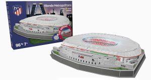 Los mejores puzzles del Atlético de Madrid del Vicente Calderón - Puzzle del Wanda Metropolitano en 3D de 96 piezas de Nanostad
