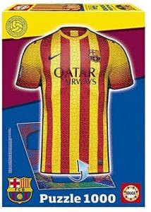 Los mejores puzzles del FC Barcelona del Camp Nou - Puzzle de camiseta del Barça de 1000 piezas de Educa