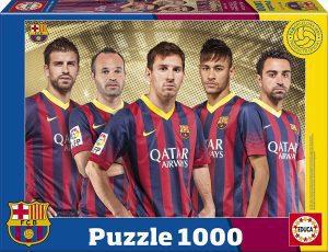 Los mejores puzzles del FC Barcelona del Camp Nou - Puzzle de jugadores del Barça de 1000 piezas de Educa