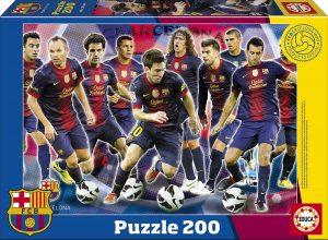Los mejores puzzles del FC Barcelona del Camp Nou - Puzzle de jugadores del Barça de 200 piezas de Educa