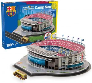 Los mejores puzzles del FC Barcelona del Camp Nou - Puzzle del Camp Nou del FC Barcelona en 3D de 109 piezas