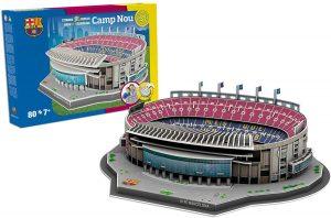 Los mejores puzzles del FC Barcelona del Camp Nou - Puzzle del Camp Nou del FC Barcelona en 3D de 80 piezas