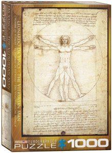 Los mejores puzzles del Hombre de Vitruvio - Puzzle de 1000 piezas del Hombre de Vitruvio de Leonardo Da Vinci de Eurographics