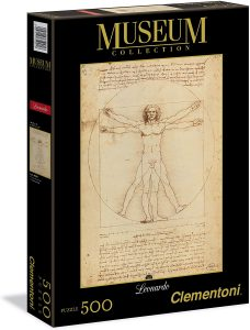 Los mejores puzzles del Hombre de Vitruvio - Puzzle de 500 piezas del Hombre de Vitruvio de Leonardo Da Vinci de Clementoni
