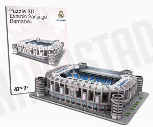Los mejores puzzles del Real Madrid del Santiago Bernabeu - Puzzle del Santiago Bernabeu Mini en 3D de 47 piezas