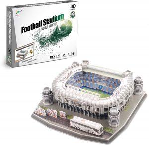 Los mejores puzzles del Real Madrid del Santiago Bernabeu - Puzzle del Santiago Bernabeu en 3D de 160 piezas de Zeye