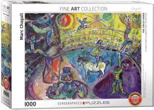 Los mejores puzzles del circo - Puzzle del circo de Marc Chagall de 1000 piezas de Eurographics