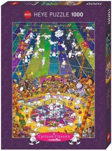 Los mejores puzzles del circo - Puzzle del circo loco de 1000 piezas de Heye