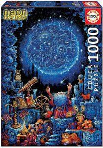Los mejores puzzles fluorescentes que brillan en la oscuridad - Puzzle Neon Fluorescent de Astrólogo de 1000 piezas de Educa