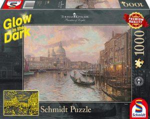Los mejores puzzles fluorescentes que brillan en la oscuridad - Puzzle fluorescente de Venecia de 1000 piezas de Schmidt