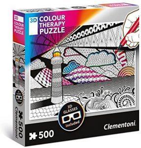 Los mejores puzzles para colorear - Puzzle de faro para colorear de 500 piezas de Ravensburger