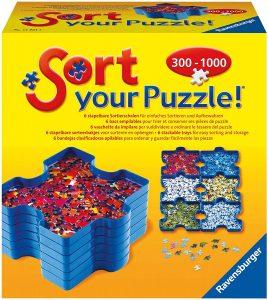 Los mejores separadores de piezas para organizar puzzles - Bandejas para organizar piezas para puzzles de Ravensburger