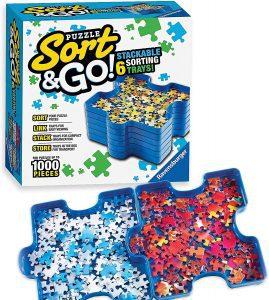 Los mejores separadores de piezas para organizar puzzles - Bandejas para organizar piezas para puzzles de Ravensburger Sort and Go
