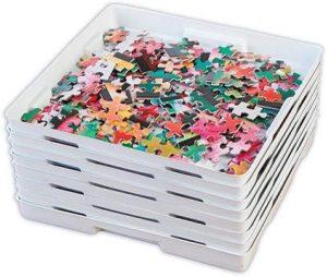 Los mejores separadores de piezas para organizar puzzles - Clasificadores de piezas para puzzles de Trenton Gifts