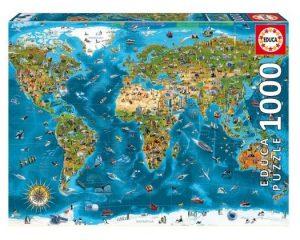 Puzzle de Maravillas del Mundo de 1000 piezas de Educa - Los mejores puzzles de mapamundi