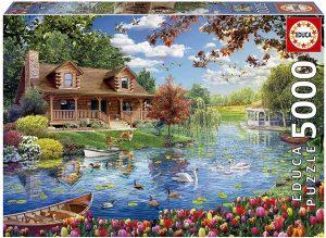 Puzzle de lago de 5000 piezas de Educa - Los mejores puzzles de 5000 piezas