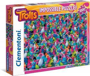 Los mejores puzzles Impossible - Puzzles Imposibles - Puzzle de Trolls Impossible de Clementoni de 1000 piezas