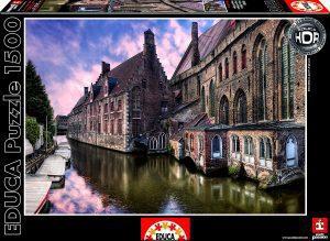 Los mejores puzzles de Bélgica - Puzzle de Brujas de Bélgica de 1500 piezas de Educa