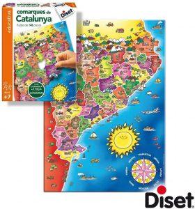 Los mejores puzzles de Cataluña - Puzzle de las comarcas de Cataluña de 148 piezas de Diset