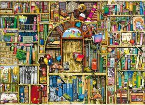 Los mejores puzzles de Colin Thompson - Puzzle de Colin Thompson de La biblioteca extraña de 1000 piezas de Ravensburger